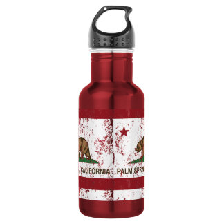 California State Flag Palm Springs Stainless Steel Water Bottle