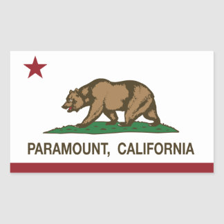 California State Flag Paramount Rectangular Sticker