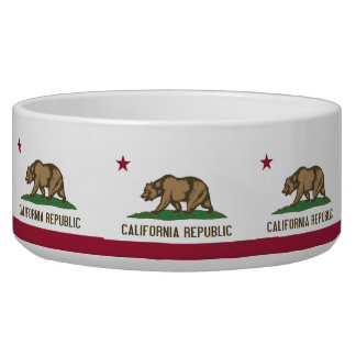 California State Flag Pet Bowl