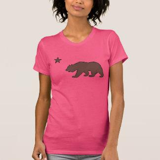 California state flag pink brown bear ladies tee