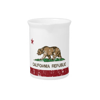 California state flag pitcher