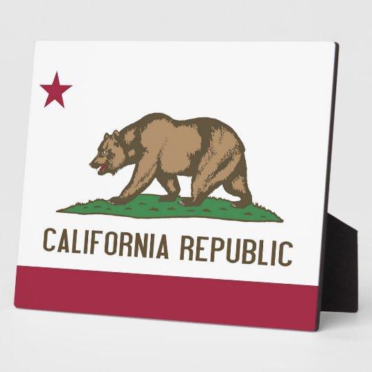 California State Flag Plaque