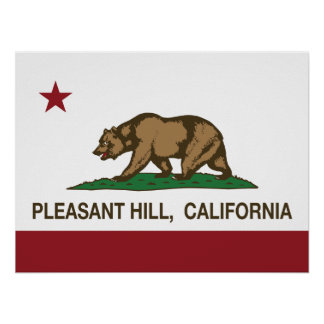 California State Flag Pleasant Hill Print