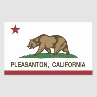 California State Flag Pleasanton Rectangular Sticker
