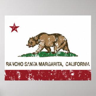 California State Flag Rancho Santa Margarita Poster