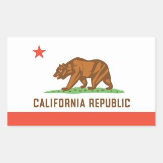 California State Flag Rectangular Sticker