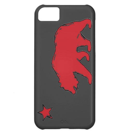 California state flag red gray bear iphone 5 case
