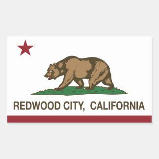 California State Flag Redwood City Rectangular Sticker