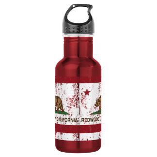 California State Flag Redwood City Water Bottle
