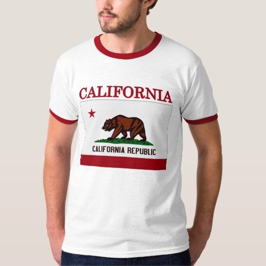 California State Flag Ringer T-shirt
