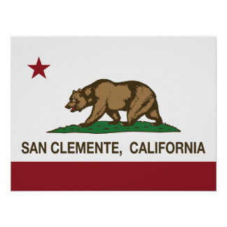California State Flag San Clemente Poster