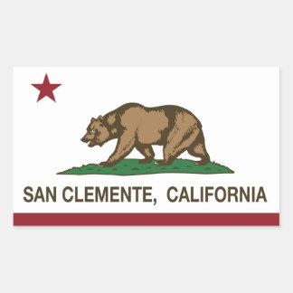 California State Flag San Clemente Rectangular Sticker