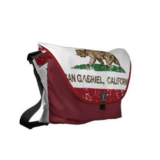 California State Flag San Gabriel Courier Bag