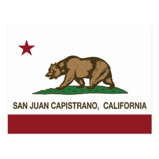 California State Flag San Juan Capistrano Postcard