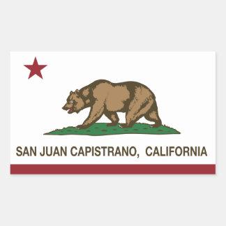 California State Flag San Juan Capistrano Rectangular Sticker