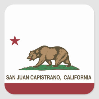 California State Flag San Juan Capistrano Square Sticker