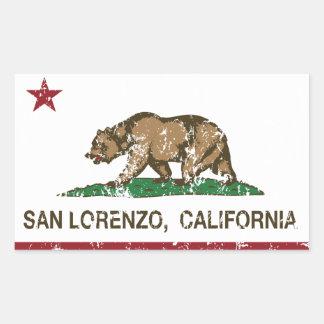 California State Flag San Lorenzo Rectangular Sticker