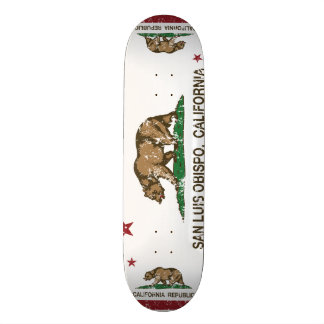 California State Flag San Luis Obispo Skateboard Deck
