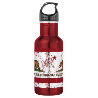 California State Flag San Luis Obispo Water Bottle