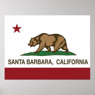California State Flag Santa Barbara Poster