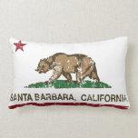 California State Flag Santa Barbara Throw Pillows