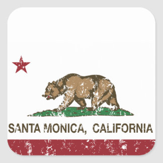 California State Flag Santa Monica Square Sticker