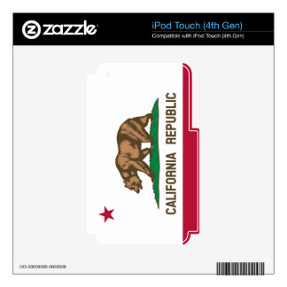 California State Flag Skins For iPod Touch 4G