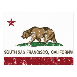 California State Flag South San Francisco Postcard