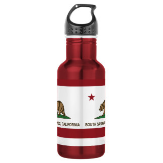 California State Flag South San Francisco Stainless Steel Water Bottle