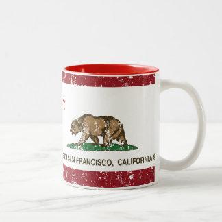 California State Flag South San Francisco Two-Tone Coffee Mug
