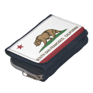 California State Flag South San Francisco Wallets