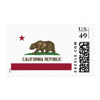 California State Flag Stamp