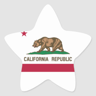 California State Flag Star Sticker
