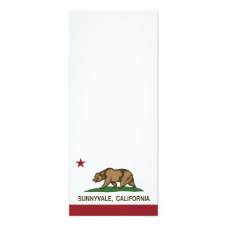 California State Flag Sunnyvale Card