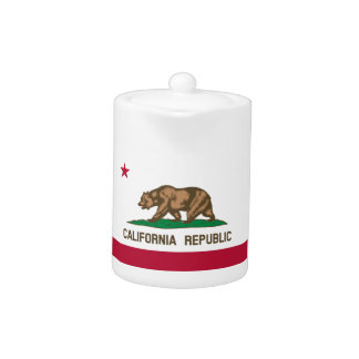 California State Flag Teapot