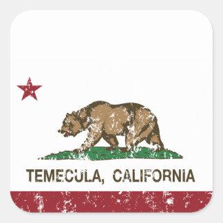 California State Flag Temecula Square Sticker