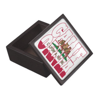 California state flag text jewelry box