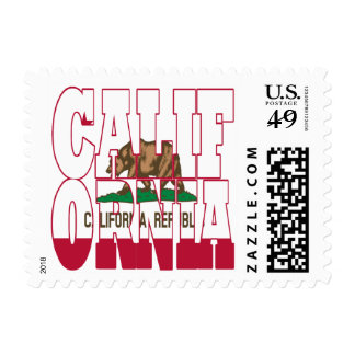 California state flag text postage