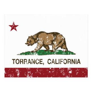 California State Flag Torrance Postcard