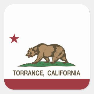 California State Flag Torrance Square Sticker