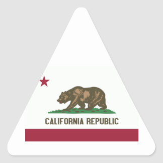 California State Flag Triangle Sticker