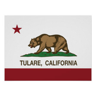 California State Flag Tulare Poster