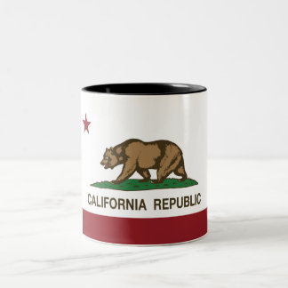 California State Flag Two-Tone Coffee Mug