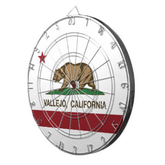 California State Flag Vallejo Dartboard With Darts