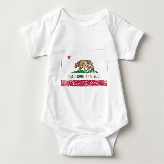California State Flag Vintage Baby Bodysuit