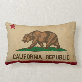 California State Flag VINTAGE Lumbar Pillow