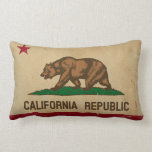 California State Flag Vintage Lumbar Pillow at Zazzle