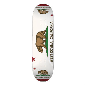 California State Flag West Covina Skateboard Deck