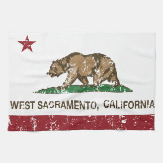 California State Flag West Sacramento Hand Towel