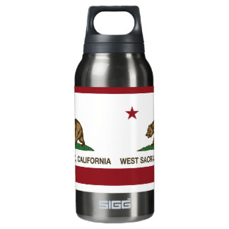 California State Flag West Sacramento Insulated Water Bottle